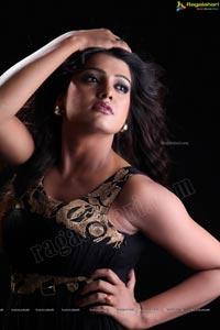 Tashu Kaushik in Black Dress