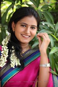 Traditional Indian Girl in Sari