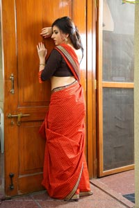 Veda Archana in Red Saree