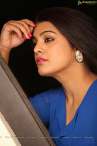 Tashu Kaushik in Blue Dress