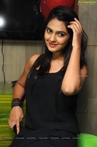 Neha Deshpande in Black Dress