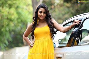 Bhanu Sri Yellow Prom Dress