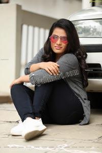 Anusha Parada in Aztec Print Top and Black Jeans