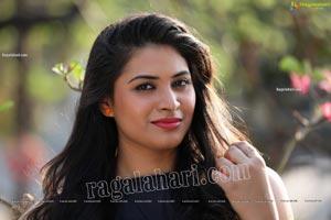Megnna Kumar in Black Mini Dress