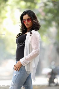 Sameera Reddy G in Black Cami and Jeans