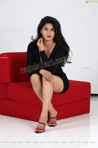 Sheetal Bhatt Black Bodycon Mini Dress