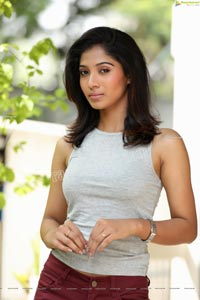 Swetha Mathi Gray Cropped Tank Top and Maroon Pant