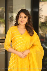 Catherine Tresa Gorgeous Stills in Yellow Churidar