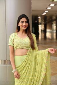 Dimple Thakur in Lime Green Lehenga Choli