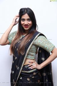 Dimple Thakur in Black Designer Saree