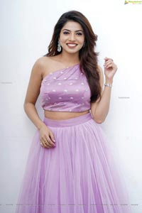 Kaashima Rafi in Lavender Lehenga and Crop Top