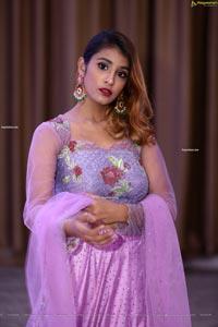 Krishna Bhimani in Lavender designer Lehenga