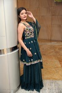 Kusumm in Dark Teal Green Designer Dress