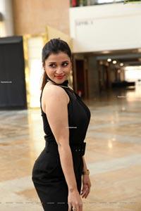 Mannara Chopra in Black Jumpsuit