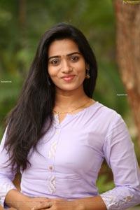 Rekha Nirosha in Light-Purple Kurta and Palazoo