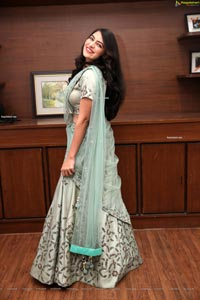 Supraja Reddy in Green Designer Lehenga Choli