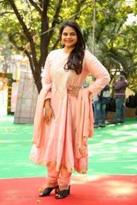 Vidyullekha Raman at Pudingi No.1 Movie Pooja Ceremony