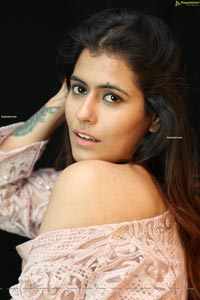 Chanchal Sharma in Light Pink Crop Top and Palazzo Pant