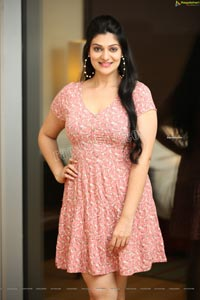 Aditi Gautam in Pink Floral Mini Dress
