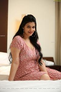 Aditi Gautam in Pink Floral Mini Dress