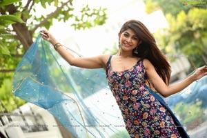 Srijita Ghosh in Teal Blue Lehenga with Long Kurti