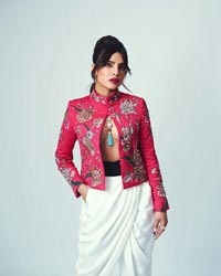 Priyanka Chopra in a Shirtless Blazer
