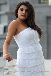 Charming Tashu Kaushik in Shoulderless White Gown