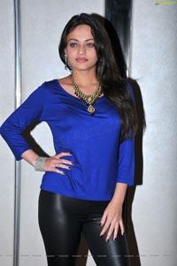 Sneha Ullal in Blue Dress
