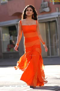 Nayanthara in Orange Dress
