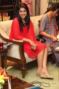 Kamalinee in Red Dress