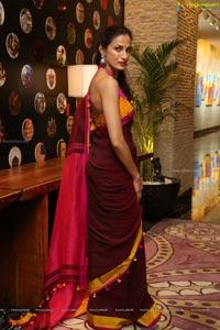 Shilpa Reddy in Pink Saree