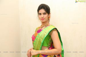 Harshitha in Saree