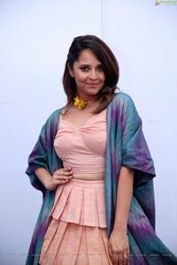 Anasuya Bharadwaj in Handloom Dress