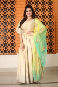Manjusha at Chiranjeevi 63rd Birthday Celebrations