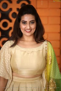 Manjusha at Chiranjeevi 63rd Birthday Celebrations