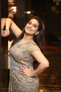 Manjusha at Ranarangam Pre-Release Event