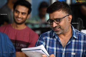 Mohan Krishna Indraganti at 'V' Movie Sets