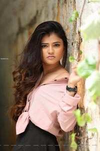 Rishika Nisha in Pink Shirt and Black Skirt