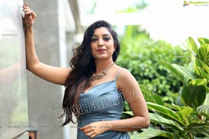 Rithu Manthra in Ash Blue Wrap Dress