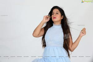 Shunaya Solanki in Sky Blue Layered Dress