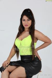 Shunaya Solanki Neon Yellow Crop Top and Slit Skirt