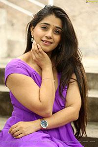 Chandni Bhagwanani at Andamina Lokam Movie Pooja Ceremony