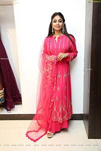 Honey Chowdari in Rani Pink Designer Dress