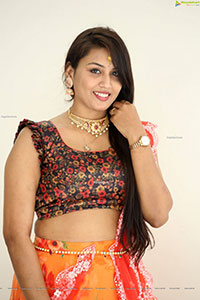 Madhavi Atthi at King of Golkonda Movie Logo Launch