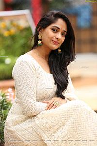 Sandhya Raju in Off White Anarkali Suit