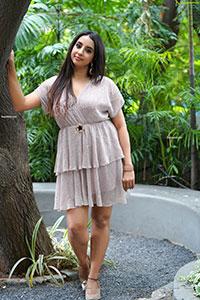 Sanjjanaa Galrani in Light Gray Glitter Dress