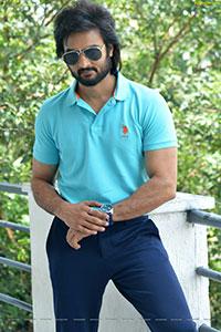 Sudheer Babu Stills at Sridevi Soda Center Interview