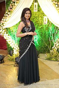 Varshini Sounderajan in Black Designer Lehenga Choli