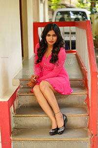 Honey Royal in Pink Mini Dress Exclusive Photoshoot