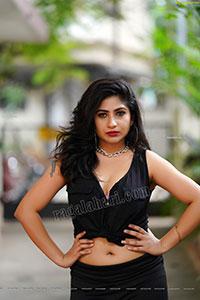 Madhulagna Das Latest Stills in Black Shirt
